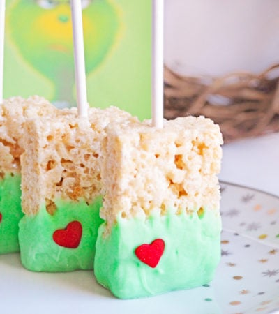 Grinch Rice Krispie Treats for Christmas