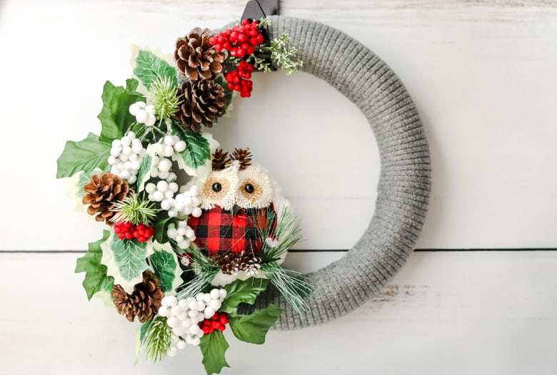 sweater wreath diy