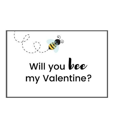 Bee Valentine Card Featured
