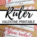 Ruler Valentine Printable