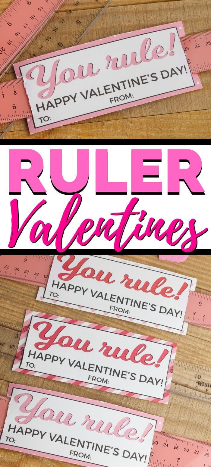 Ruler Valentines for the Classroom