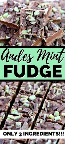 Andes Mint Fudge - Only 3 Ingredients!!!