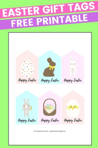 Easter Gift Tags Free Printable