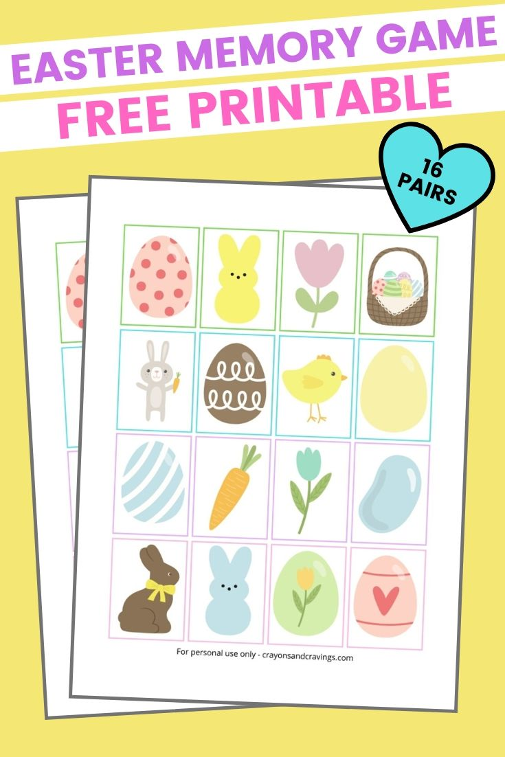 Easter Memory Game Printable