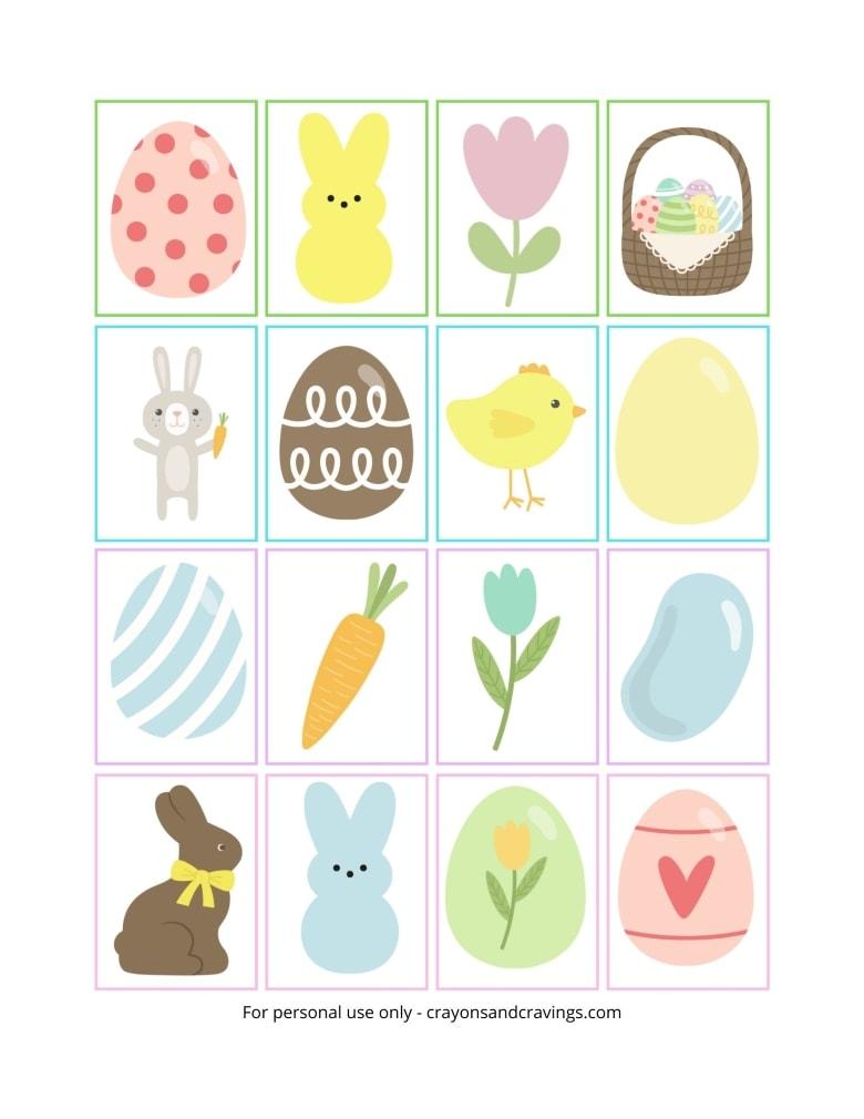Easter Memory Printable