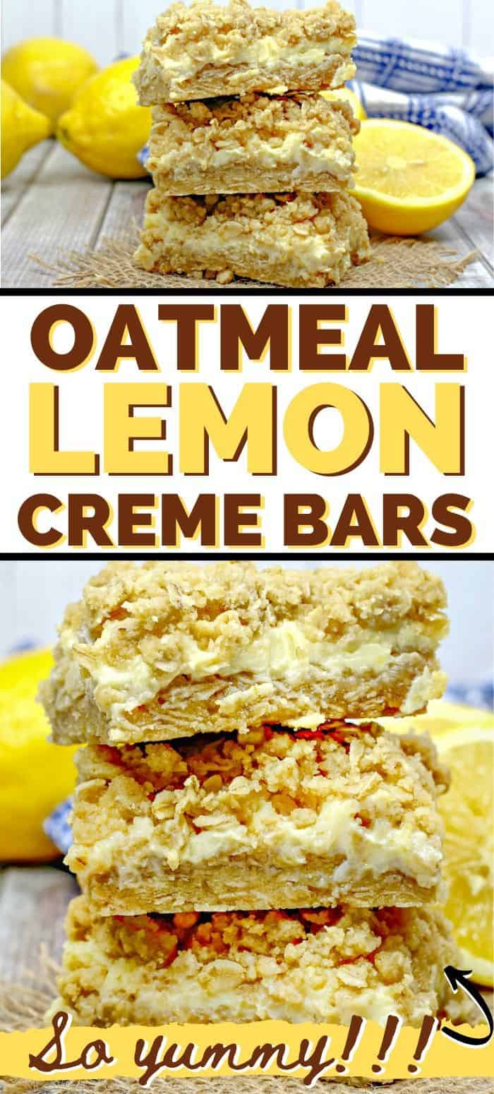 Oatmeal Lemon Creme Bars