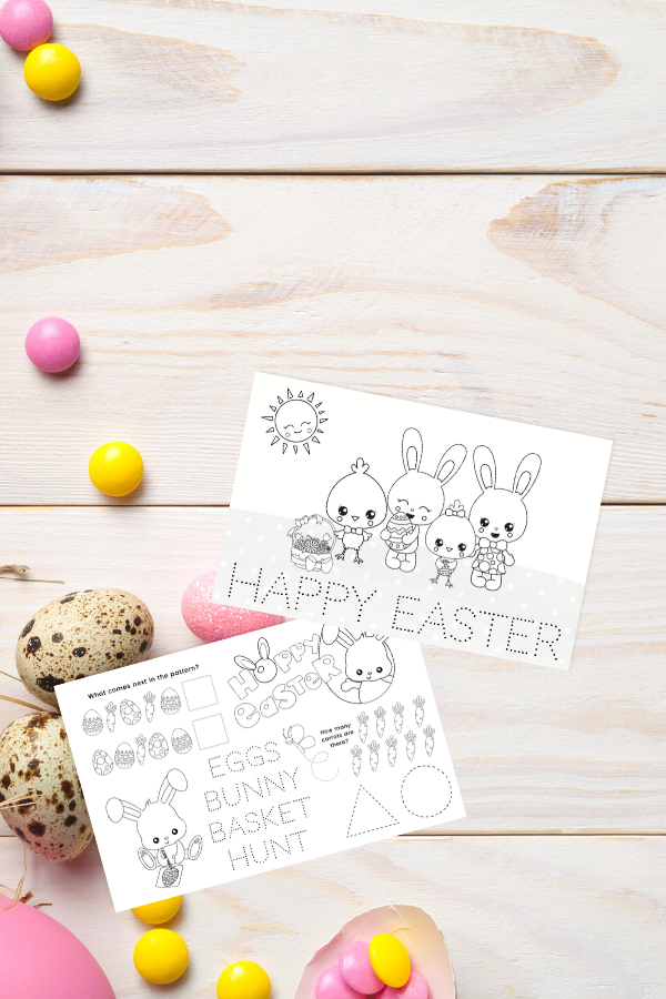 Easter Placemats for Kids