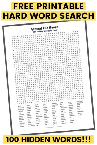 100 Word Word Search PDF