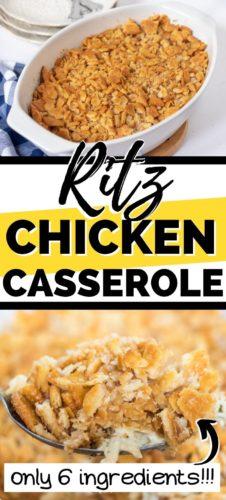 6 Ingredient Ritz Chicken Casserole