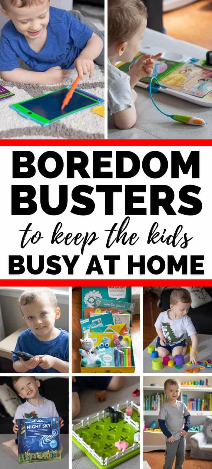Boredom Busters to keep the kids busy at home