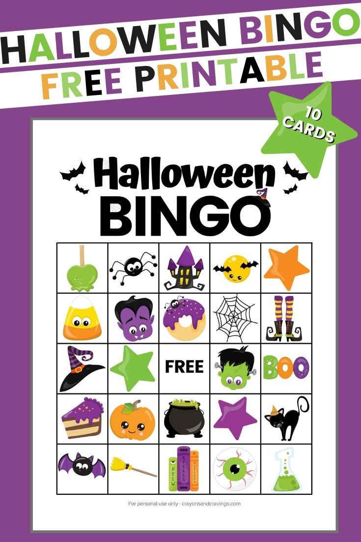 Halloween BINGO Free Printable