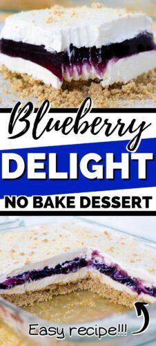 Blueberry Delight No Bake Dessert