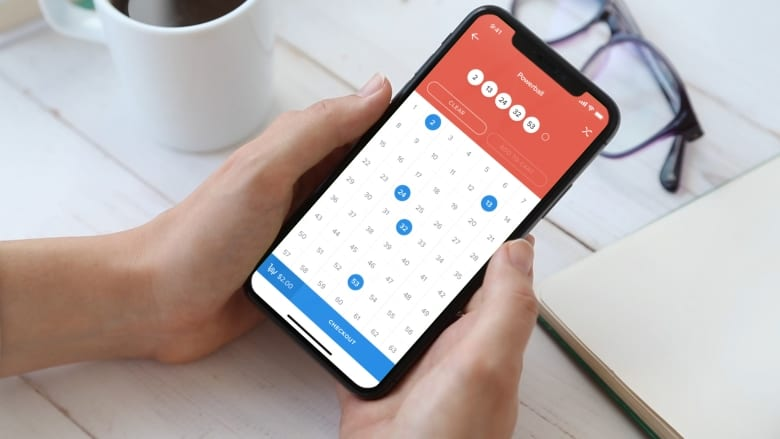 Choosing lottery ticket numbers on Jackpocket app