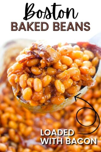 Boston Baked Beans: Loaded with Bacon