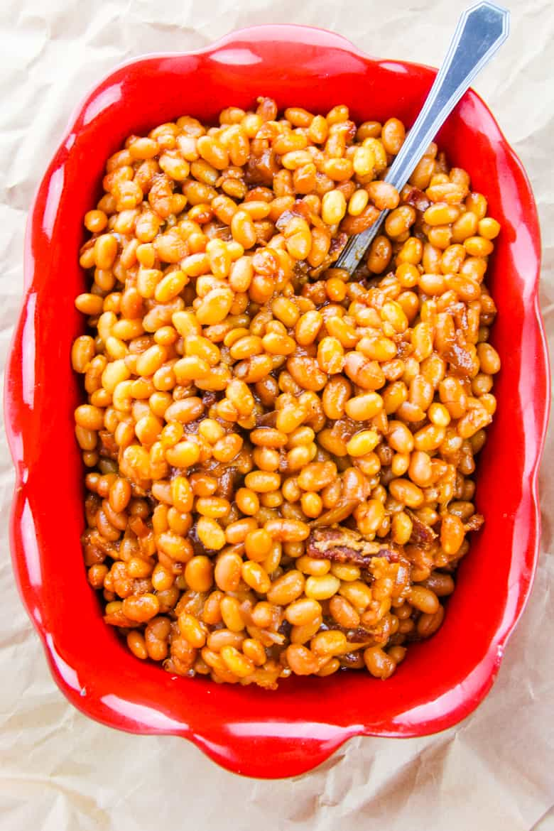 Brown sugar and bacon baked beans recipe