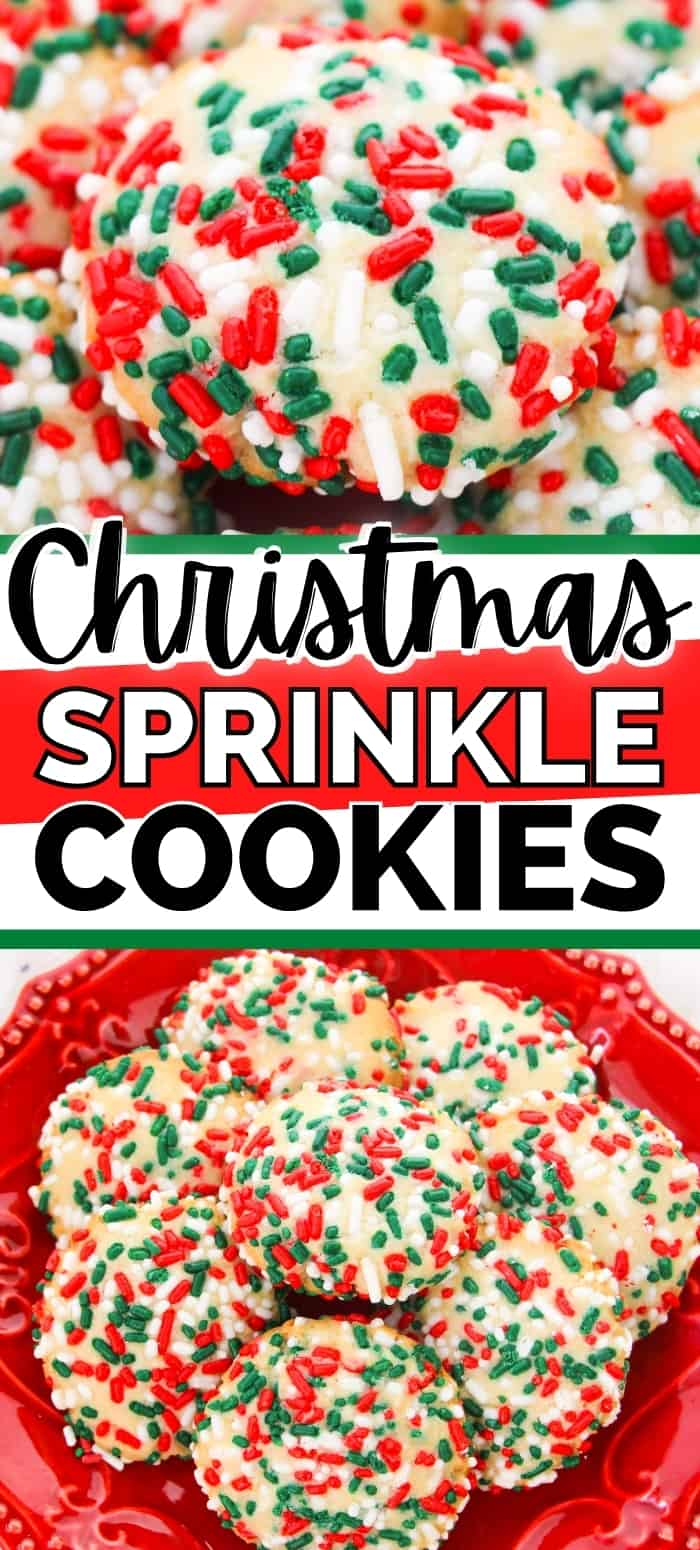 Christmas Sprinkle Cookies