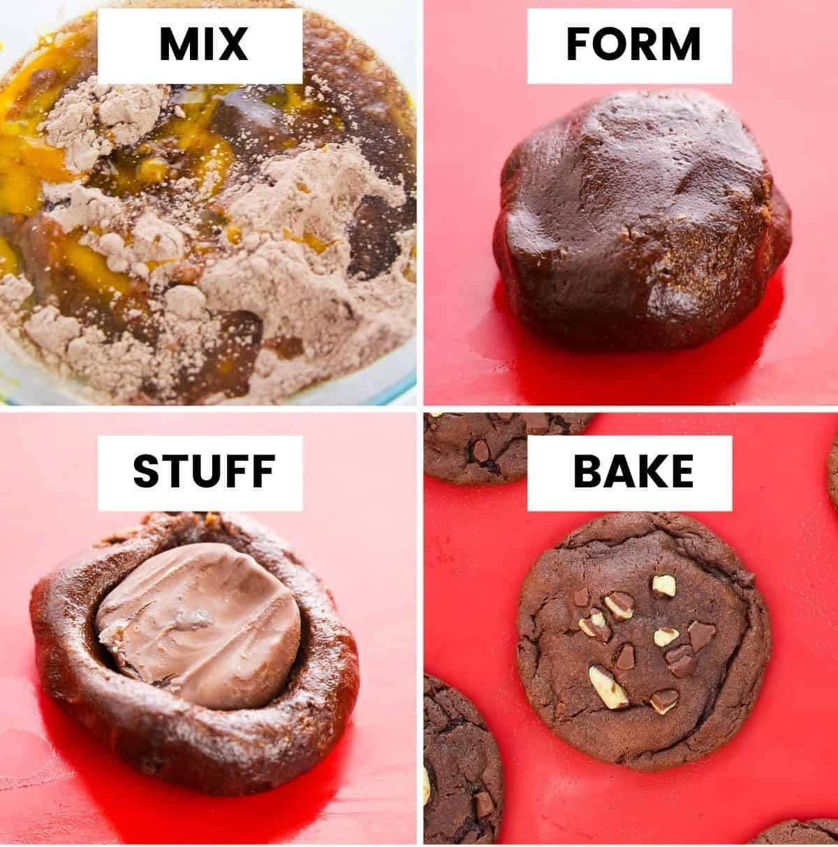 How to Make Peppermint Patty Stuffed Chocolate Cookies