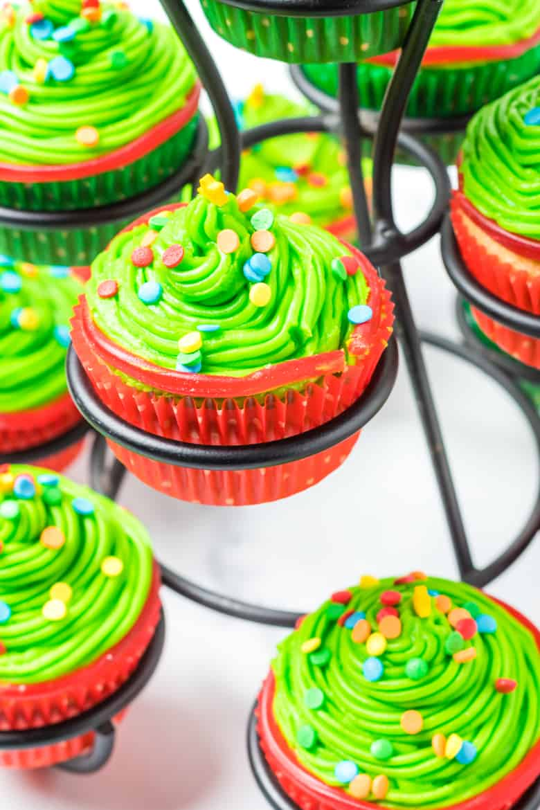 Christmas Tree Frosting Cupcakes Recipe