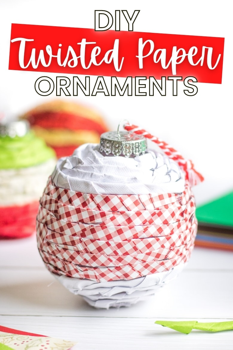 DIY Twisted Paper Ornaments