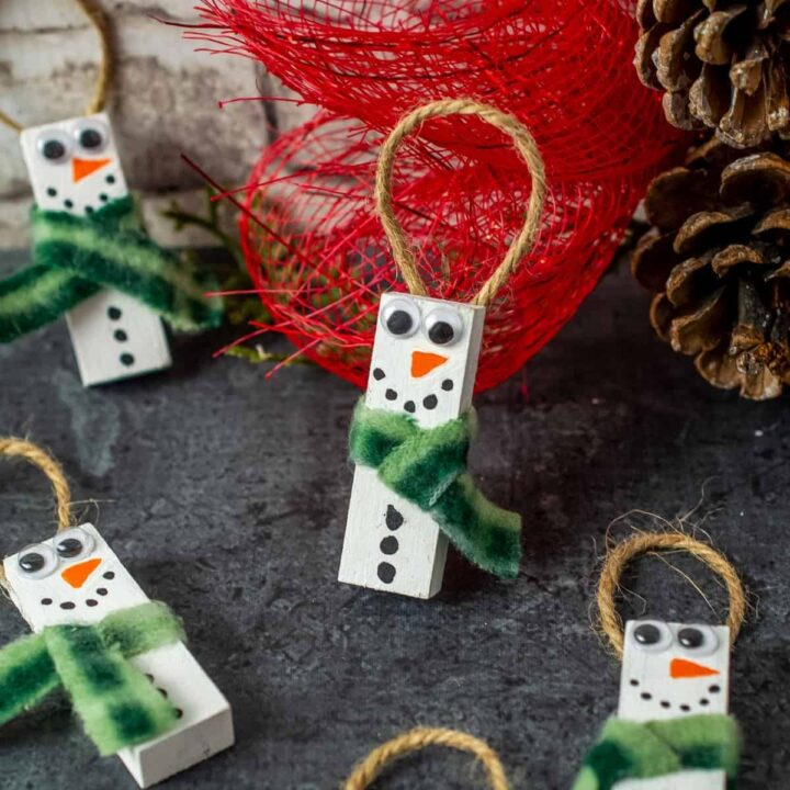 Dollar Tree DIY Snowman Ornaments 1200