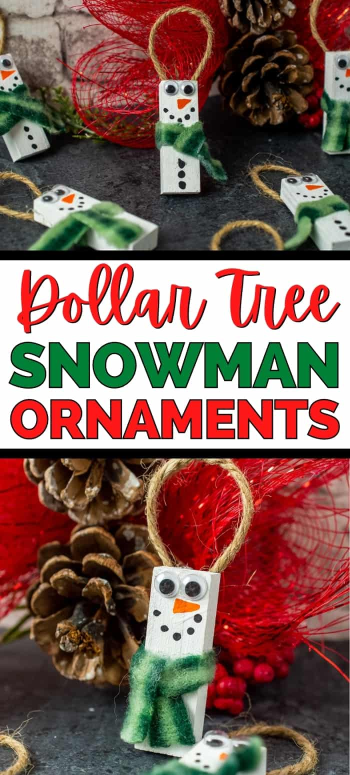 Dollar Tree Snowman Ornaments