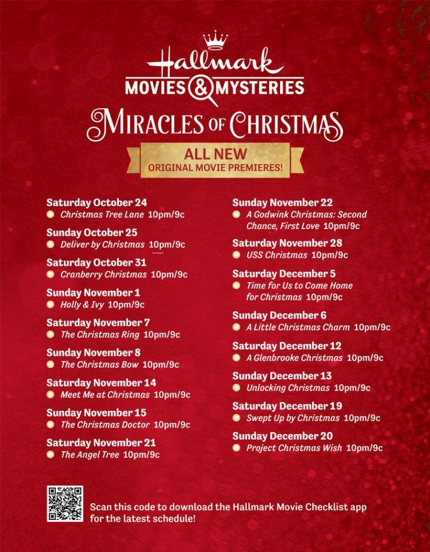 Hallmark Christmas Movie Schedule 2020