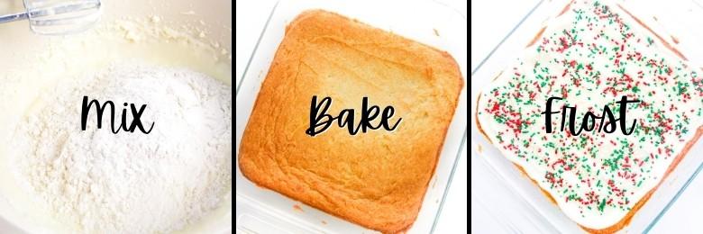 How to Make Christmas Snack Cake