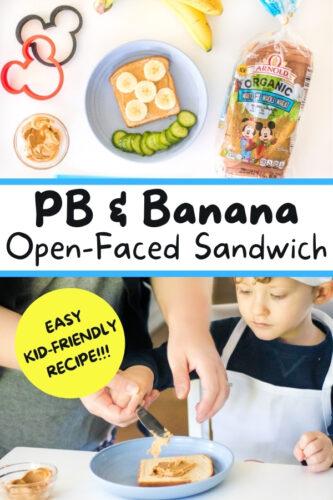 PB & Banana Open-Faced Sandwich
