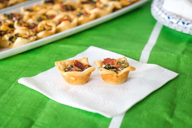 Bacon Spinach Dip Bites
