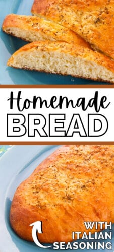 Homemade Bread with Italian Seasoning