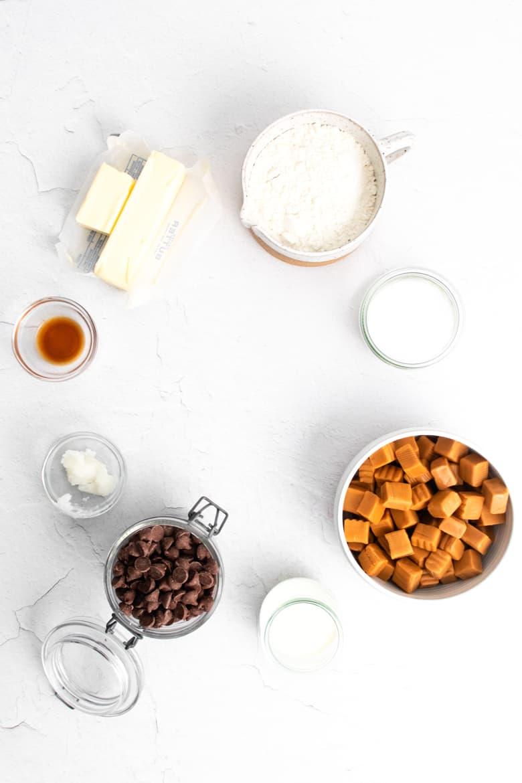 Homemade Twix Bars Ingredients