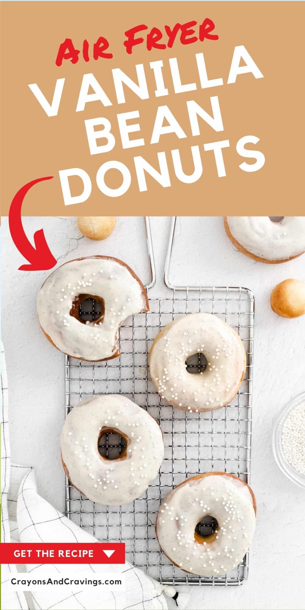 Air Fryer Vanilla Bean Donuts