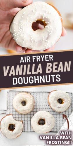 Air Fryer Vanilla Bean Doughnuts