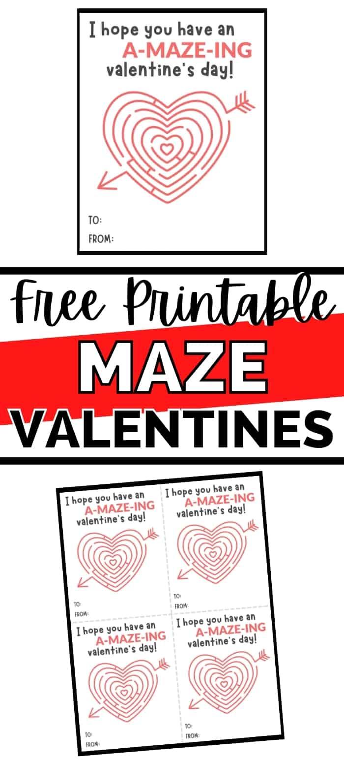 Free Printable Maze Valentines