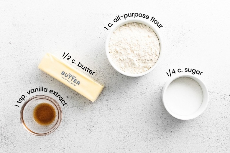 vanilla, butter, flour, sugar