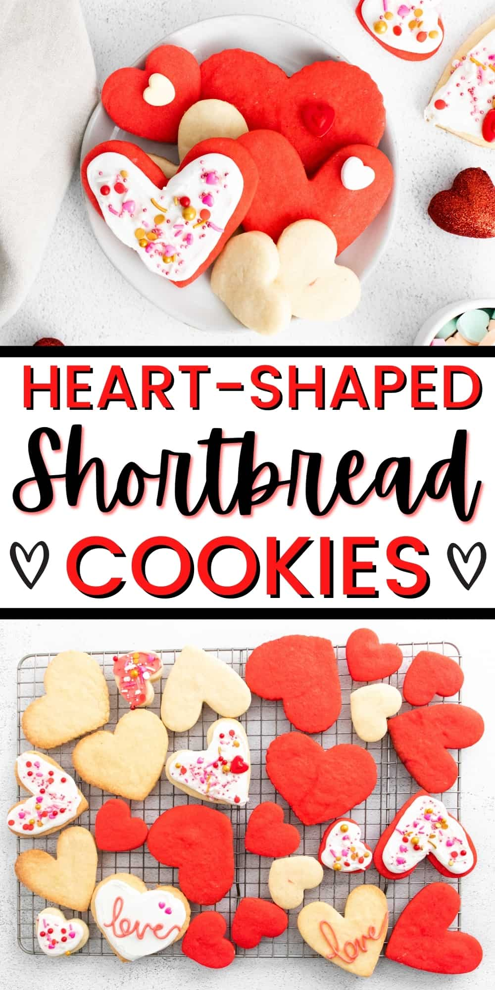 Heart-Shaped Shortbread Cookies