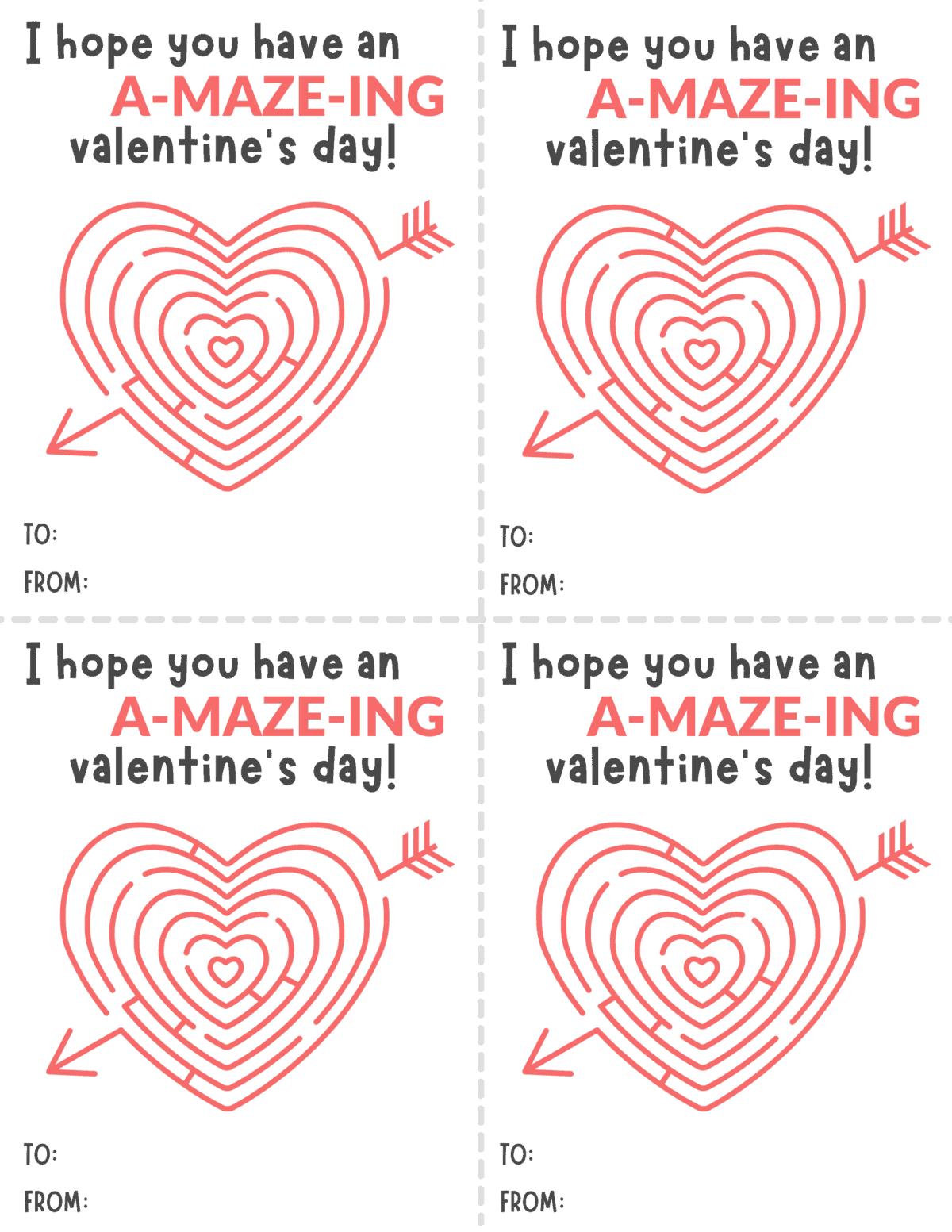 Valentine Maze Printables