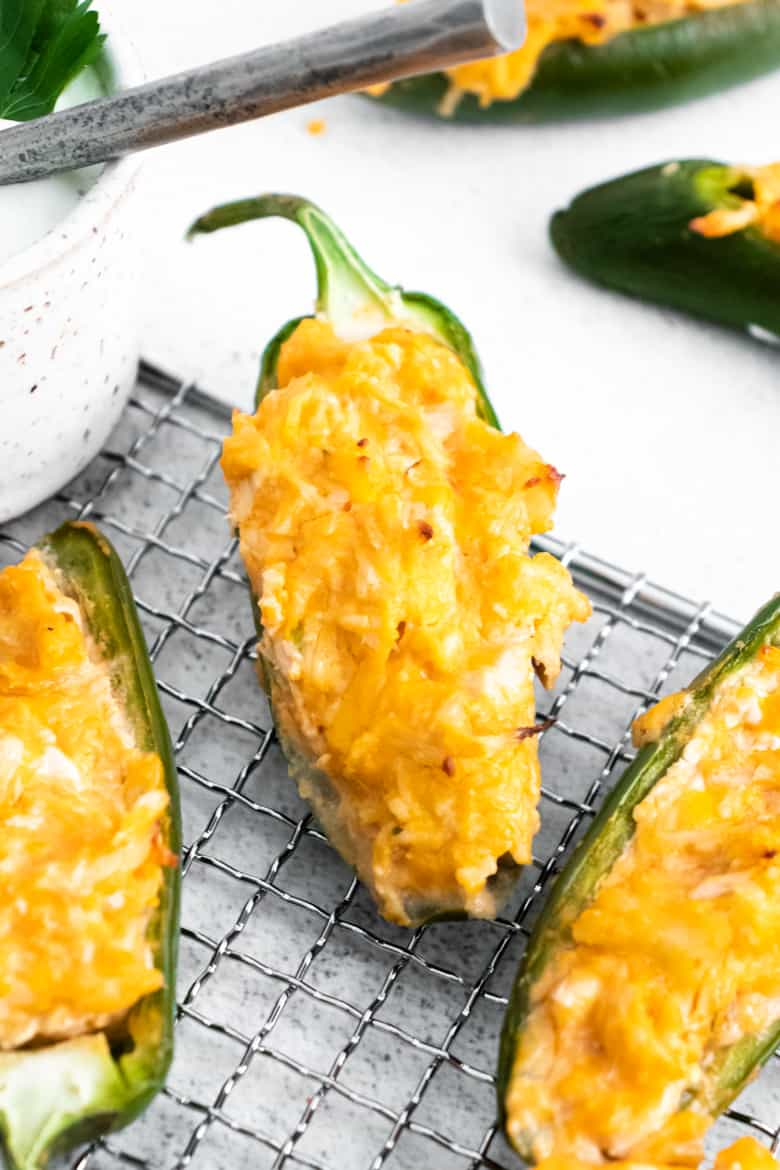 buffalo chicken stuffed jalapeno poppers