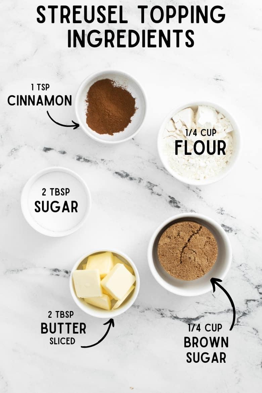 Cinnamon Sugar Streusel Ingredients