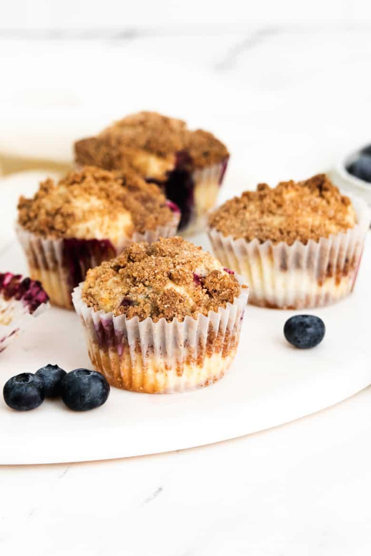 Homemade Lemon blueberry muffins with fresh blueberries