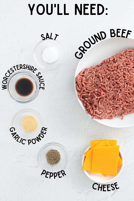 air fried burger ingredients