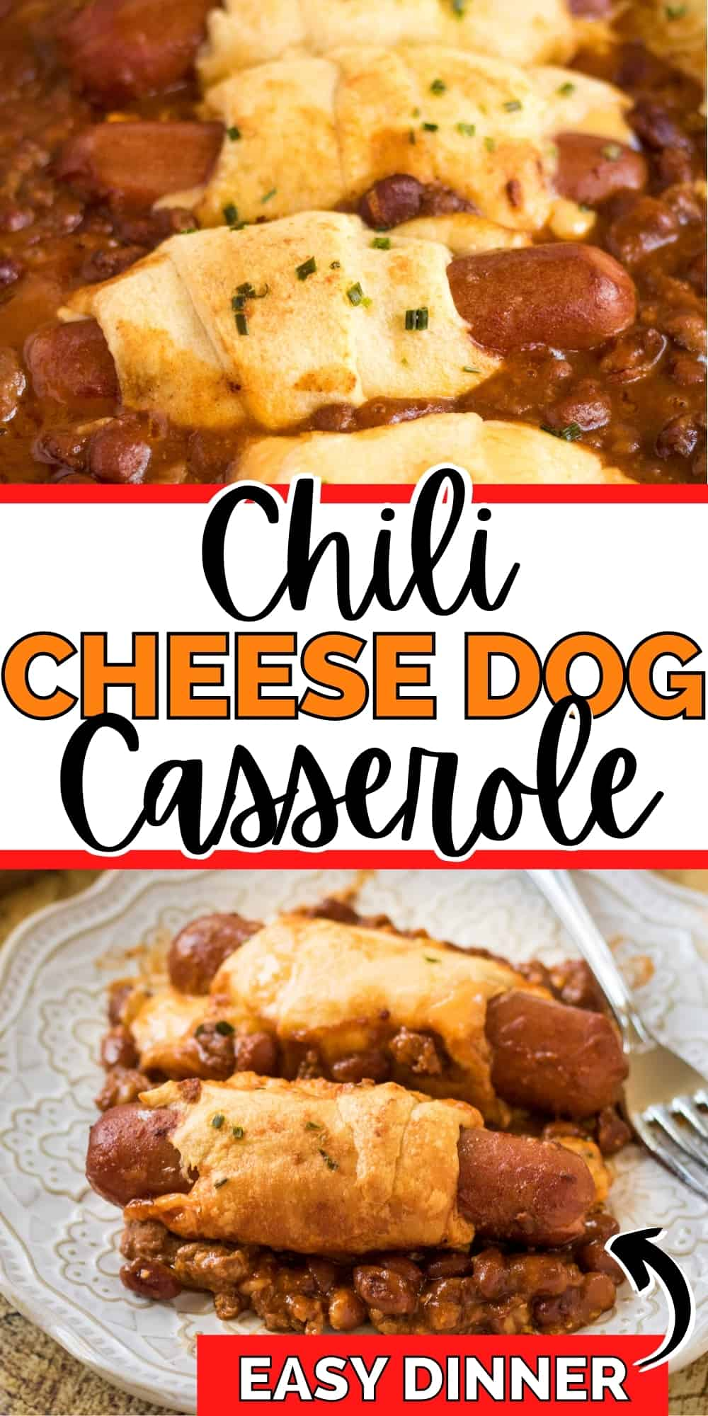 Chili Cheese Dog Casserole; easy dinner