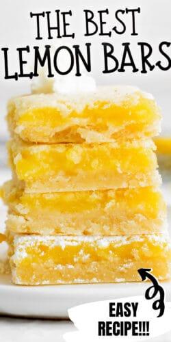 The Best Lemon Bars; Easy Recipe!!!