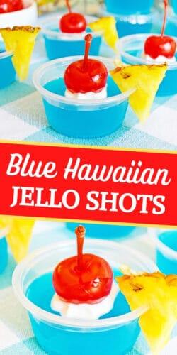 Blue Hawaiian Jello Shots