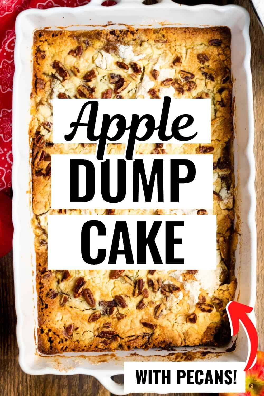 Apple Dump Cake with Pecans