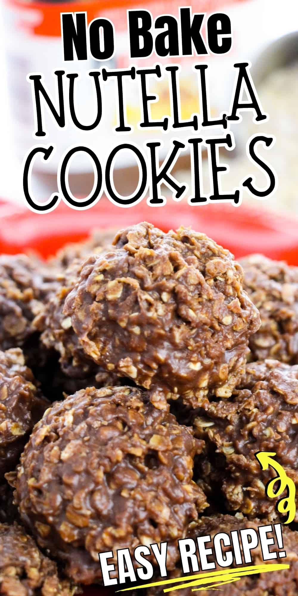 No bake nutella cookies, easy recipe