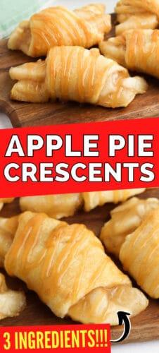Apple Pie Crescents - 3 ingredients!