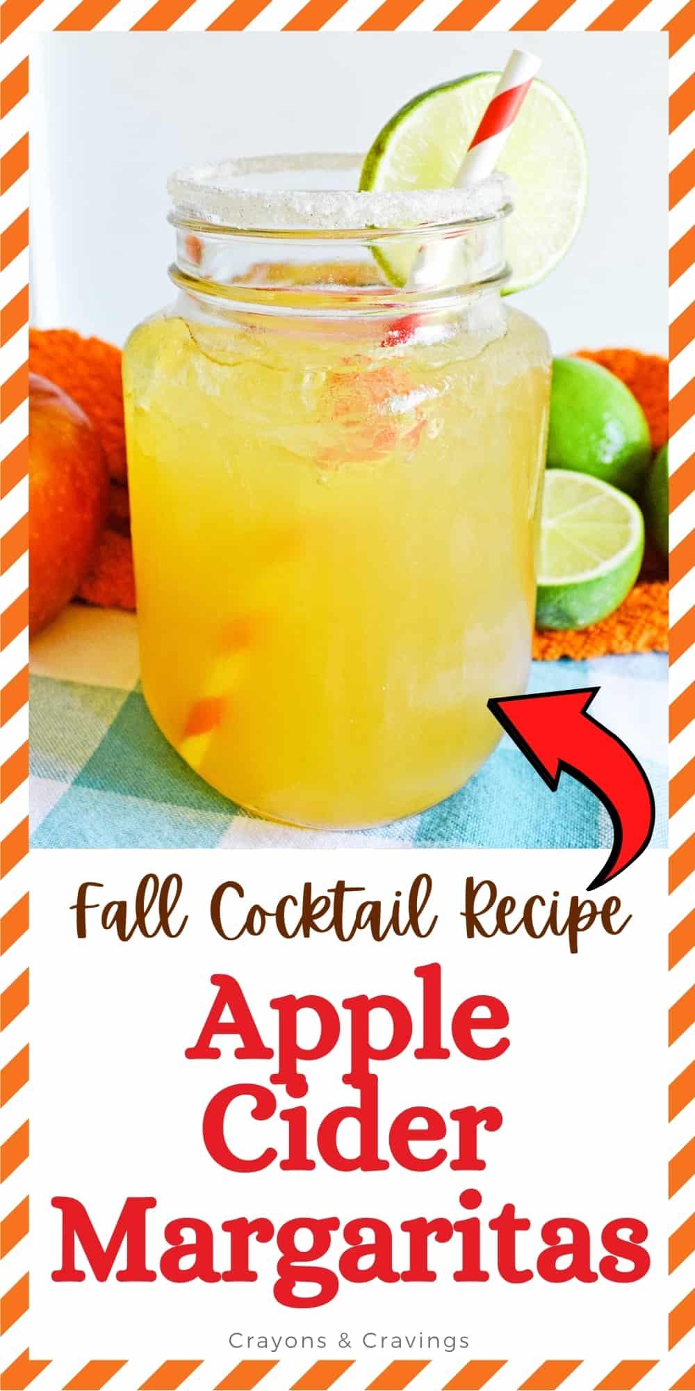 Fall Cocktail Recipe; Apple Cider Margaritas