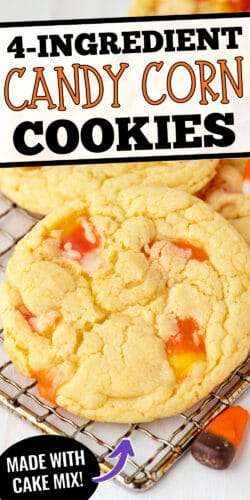 $-Ingredient Candy Corn Cookies made with Cake Mix