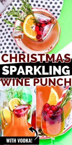 Christmas Sparkling Wine Punch